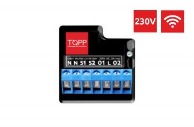 ShutterBox 230V Topp Dispositivo WiFi para control de actuador de ventana