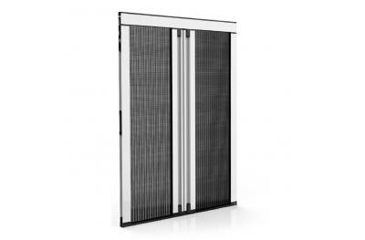 Mosquitera Lateral Plisada Espesor 18 mm para Puerta-Ventana 2 Puertas Plisadas Zanzar Sistem