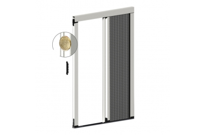 Mosquitera Plisada Lateral 22 mm Espesor para Puerta Balcón 1 Puerta Plisada Zanzar Sistem
