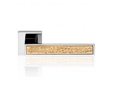 Zen Fusión pulido manija de puerta del cromo en roseta con sistema de montaje ultra-Click-Clack Linea Cali Diseño