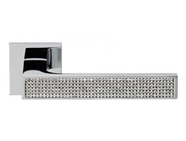 Zen Mesh Cromo Brillo Manija de Puerta en Rosette Linea Calì Crystal