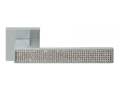 Zen Mesh Cromo Satinado Manija de Puerta en Rosette Linea Calì Crystal